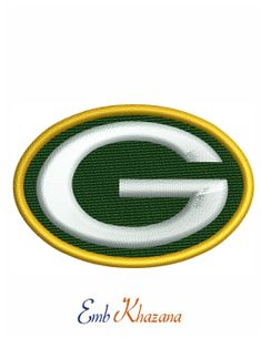 Green Bay Packers Logo embroidery pattern file
