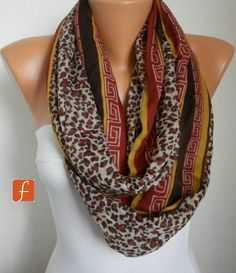 Mothers Day Gift  Leopard  Infinity Scarf Shawl Circle by anils, $19.00