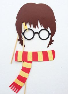 Harry Potter Birthday Party ; Harry Potter Inspired Photo Booth Props ; Wizard Party Decorations ; Griffindor Scarf ; Hogwarts By Let's Get Decorative