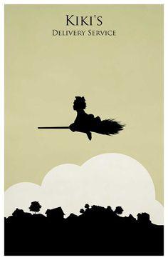 Affiche de Hayao Miyazaki kiki la par MINIMALISTPRINTS sur Etsy