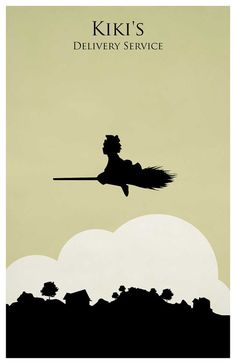 Hayao Miyazaki poster set  - My Neighbor Totoro - Kikis Delivery Service - Howls Moving Castle - Castle in the Sky  Poster size: 11 inches x 17