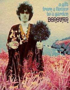 "Donovan's, ""A Gift from a Flower to a Garden"", 1967. Cover art by Karl Ferris who was Donovan's personal photographer...The back cover photo was also by Ferris in LA during Donovan's & Karl's initiation into Transcendental Meditation, & depicts Donovan visiting w/Maharishi Mahesh Yogi."