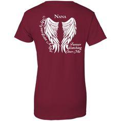 Nana Guardian Angel Lady T Shirt