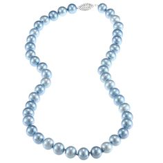DaVonna Silver Blue FW Pearl 16-inch Necklace (7.5-8 mm)   Overstock.com Shopping - Top Rated DaVonna Pearl Necklaces