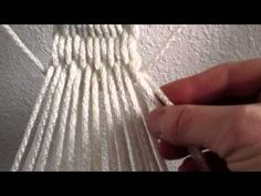 DIY: Learn how to weave a clew* to go with the hammock you just made.  *The woven, looped ends of the hammock that help secure it in place.