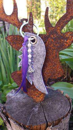 Schlüsselanhänger - Schlüsselanhänger Filz Engelsflügel Schutzengel - ein Designerstück von herzlichstfesch bei DaWanda