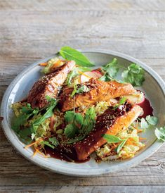Caramel Ginger Salmon with Vietnamese Coleslaw, page 222.