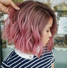 10 Short Ombr Hairstyles We Love Ombre Hair Styles Ombre Hair Style. This Ombre Hair Style picture has been authored by denok and labelled in Hair style Ideas tag. You could grab this excellent picture to your laptop, netbook or desktop computer. Pink Ombre Hair, Brown Ombre Hair, Pink Short Hair, Short Dyed Hair, Colored Short Hair, Pastel Pink Hair, Brown Hair With Pink Highlights, Short Colorful Hair, Brown And Pink Hair