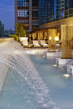 Waterfall pool at Trump SoHo, New York City. Photo: Courtesy Trump SoHo  A shopping trip with the girls to NYC!  Contact Wislar Travel!  609-902-8611
