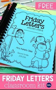 Keep parents connected to your classroom by having your students write weekly Friday letters. See how I manage them in my second grade classroom and get the FREE Friday Letters classroom kit to help you get started. The kit includes parent letters, stationary, and a cover to bind the letters into a book at the end of the year. #fridayletters #classroommanagement