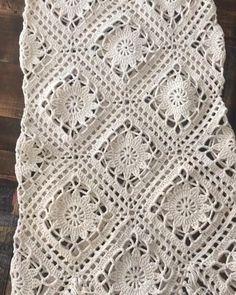 Motif Mandala Crochet, Débardeurs Au Crochet, Beau Crochet, Mode Crochet, Crochet Mandala Pattern, Crochet Dollies, Crochet Lace Edging, Crochet Square Patterns, Crochet Motifs
