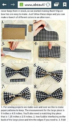 How to make your own bow tie