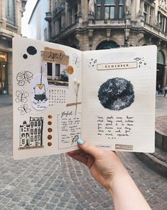 travel scrapbook I realize that the month April is almost over, but its never too late to create a bullet journal entry, right Im actually new to this Bullet Journal Entries, Creating A Bullet Journal, Bullet Journal Aesthetic, Bullet Journal Art, Bullet Journal Spread, Bullet Journal Ideas Pages, Journal Pages, Bullet Journal Travel, Memory Journal