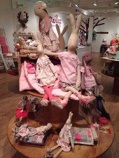 Maileg Rabbits, Bunnies and Furniture Spring Summer 2014 Maileg Bunny, Bunny Toys, Little Girl Toys, Toys For Girls, Bunny Hutch, Easter Season, Fabric Dolls, Handmade Toys, Doll Toys