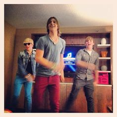 rocky teaching ross and ryland some dance moves haha