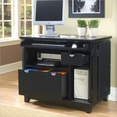 Superieur Buy Home Styles Arts U0026 Crafts Compact Computer Cabinet In Black On Sale  Online