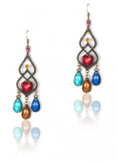 Multi Colored Chandelier Earrings, Multi Colored Chandeliers, Multi Colored Chandelier Drop