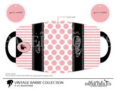 Vintage Barbie Invitation Digital DIY van PAPERFROLICS2012 op Etsy