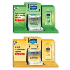 Vaseline - dispenser sampling units & Shelf