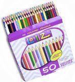#9: LolliZ 50 Colored Pencils Set