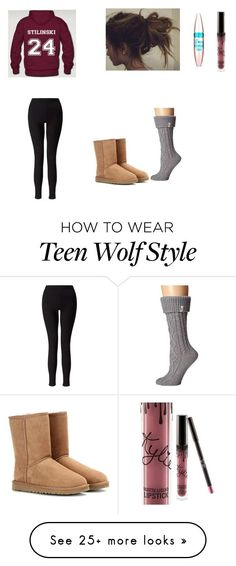 Untitled #54 by hills19 on Polyvore featuring Miss Selfridge, UGG Australia, Maybelline and Kylie Cosmetics