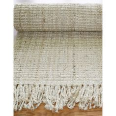 Nuloom Handmade Eco Natural Fiber Chunky Loop Jute Rug (6' x 9') - Bleached | Overstock.com Shopping - Great Deals on Nuloom 5x8 - 6x9 Rugs