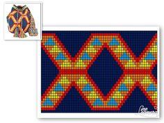 Bead Loom Patterns, Beading Patterns, Crochet Patterns, Bag Patterns, Tapestry Bag, Tapestry Crochet, Crochet Crafts, Knit Crochet, Patron Crochet