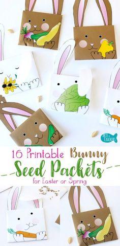 Ünnepelje a húsvéti és tavaszi ezekkel imádnivaló nyomtatható nyuszi Seed Packet borítékok.  Ingyenes minta áll rendelkezésre, vagy megvásárolja a teljes készlet |  Easter Bunny |  Spring |  kertészet |  Seed csomagok |  Seed Packet borítékok |  Nyomtatható borítékok |  Printables |  Easter Printables |  Tavaszi Printables |  Bunny Printables |  nyúl |  Paper Crafts |  Seeds |  Kerti ötletek |  Ajándékötletek |  Húsvéti kosár |  Nem Candy |  Crafts for Kids |  Húsvéti Kézműves |  Tavaszi…