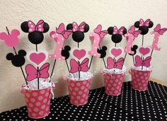 Minnie+Mouse+Birthday+Decorations+++Set+of+4+by+TheGirlNXTdoor,+$42.00