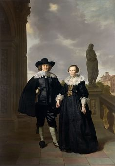 Frederick van Velthuysen and his Wife, Josina by Thomas de Keyser (National Gallery of Victoria)