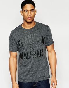 Imagen 1 de Camiseta con cuello redondo con logo en el pecho a tono de Franklin and Marshall