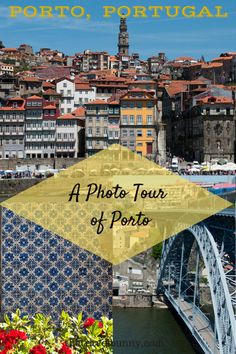Porto is one of Europe's prettiest cities, resting on the river Douro it's straddled by six bridges. Buildings are decorated in beautiful blue and white azelejo tiles and painted in shades of daffodil yellow and ox-blood red. Let me take you on a Porto photo tour.