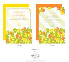Fun Citrus Invites!