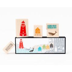 Cute, cute stamp kits to make your art for a kids' room.