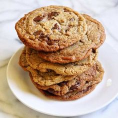 Naked Barley Chocolate Chip Cookies, Ancient Grains Make Great Pastry - Chef and Author Robin Asbell Dark Chocolate Chips, Chocolate Chip Cookies, Barley Flour, No Flour Cookies, Thing 1, Birthday Treats, How To Make Cookies, Deserts, Alternative