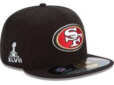 San Francisco 49ers New Era NFL Super Bowl XLVII On Field Patch 59FIFTY Cap  Hats 49ers b7f57858b515