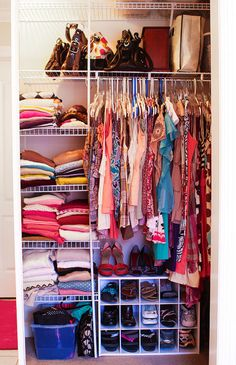 This is what i need for David and I.  Our closet is a mess.