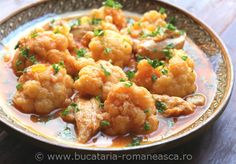 Romanian Food, Cauliflower, Vegetables, Recipes, Romanian Recipes, Cauliflowers, Recipies, Vegetable Recipes, Ripped Recipes