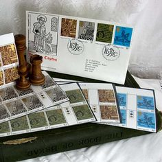 54 British Stamps and Ist Day Cover 1976 by 3rdshelffromthetop, $28.00