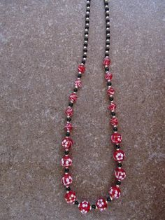 Red Rosie Beaded Necklace. $19.99, via Etsy.