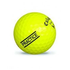 Balle de golf jaune Practice Callaway Rugby, Golf Ball, Sports, Mini, Golf Accessories, Bullets, Hs Sports, Excercise, Sport