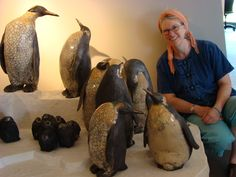 Fabulous raku penguin sculptures! Would love to have some of these in my house.