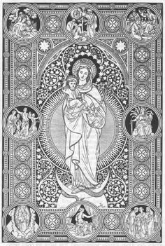 Woodcuts, Engravings, and Illustrations Catholic Kids, Catholic Saints, Roman Catholic, Christian Images, Christian Art, Religious Images, Religious Art, Catholic Missal, Vintage Holy Cards