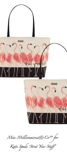 Kate Spade 2017 Strut Your Stuff Flamingo Francis Tote Outfit Decor Pink
