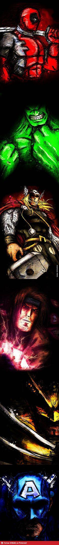 really awesome superhero pencil art