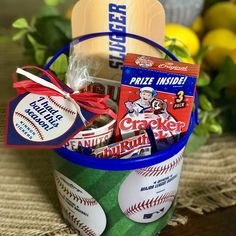Check out how this customer used their handcrafted baseball favor tag from You Had Me At Crafts! It is made out of premium 65 lb cardstock, and the saying is professionally printed on the baseball. The favor tag has a hole punched to ensure that affixing the tag to your favor is a breeze. The tag is sure to be a home run at your event too!  It's perfect for favors at little league events or baseball themed birthday, baby shower, or gender reveal parties. Baseball Party Favors, Baseball Theme Birthday, Baseball Banner, Boy Birthday Parties, Birthday Party Favors, 10th Birthday, Vintage Baseball Party, Birthday Ideas, Sports Party Favors