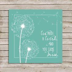 Dandelion Wishes Flower Dandelions Quote Nursery Baby Dandelion Quotes, Dandelion Art, Dandelion Wish, Blowing Dandelion, Dandelion Nursery, Paint Party, Flower Cards, Cool Cards, Nursery Art