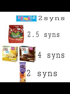 Slimming World Syns List, Slimming World Sweets, Slimming World Free, Slimming Word, Slimming World Dinners, Slimming World Recipes Syn Free, Crisps Syns, Low Syn Treats, Syn Free Food
