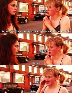 LOL, Effy and Pandora at Skins UK, Go To www.likegossip.com to get more Gossip News!