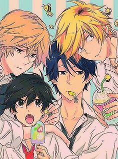 Hitorijime My Hero! Manga Anime, Fanart Manga, Manga Boy, Anime Art, Awesome Anime, Anime Love, Anime Guys, Manhwa, Chibi